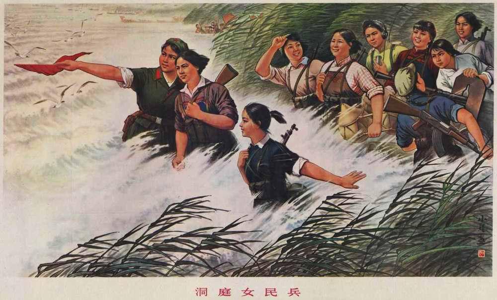 Во время учений на озере Дунтинху (1978 год)