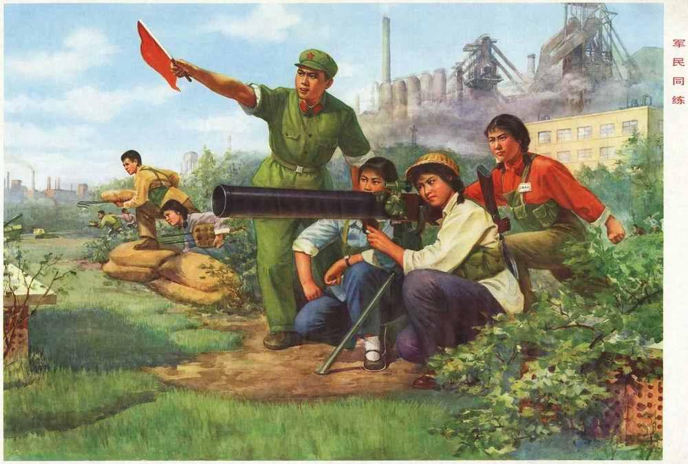 Армия и народное ополчение учатся сообща (1977 год)