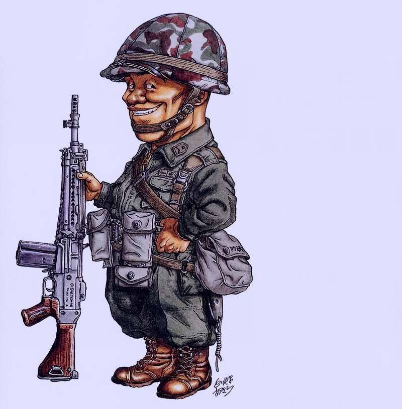 1960-е - 1970-e годы. Япония. Пехотинец сил Национальной самообороны сержант Unoya с автоматической винтовкой Type 64