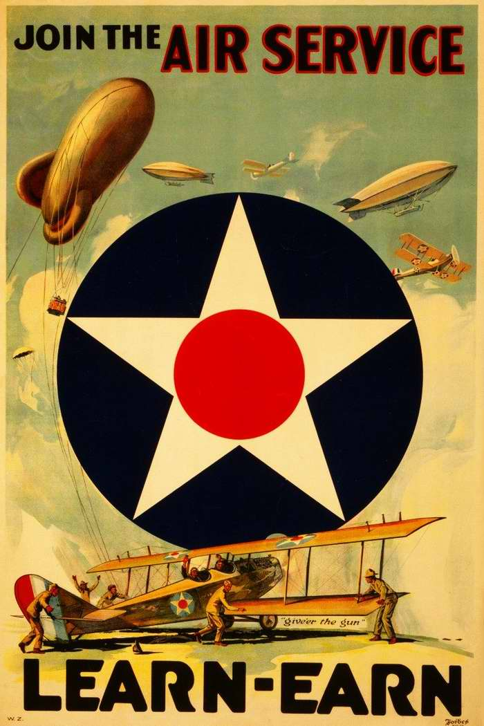 the us airline industry in ww1