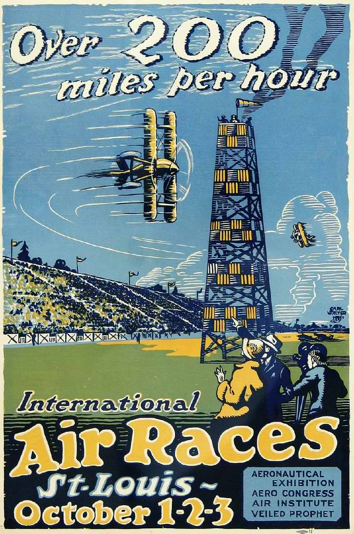 Более 200 миль в час. Международные авиационные соревнования в г. Сент-Луис 1 - 3 октября 1923 года