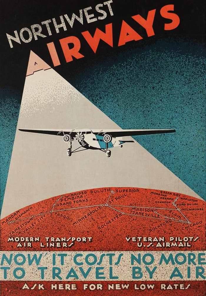 Авиакомпания Nortwest Airwais. Полеты из Чикаго в близлежащие города по низким ценам