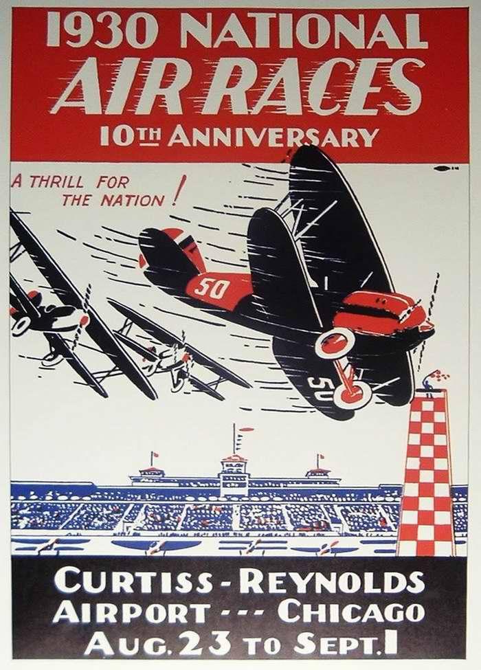 Национальные воздушные соревнования в аэропорту Чикаго (1930 год)