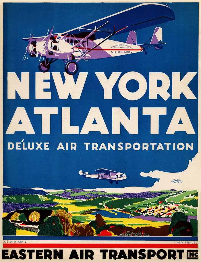 Авиакомпания Eastern Air Transport - из Нью-Йорка в Атланту комфортабельным воздушным транспортом (1931 год)