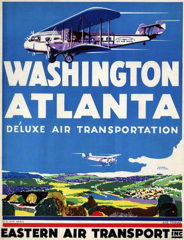 Авиакомпания Eastern Air Transport - из Вашингтона в Атланту комфортабельным воздушным транспортом