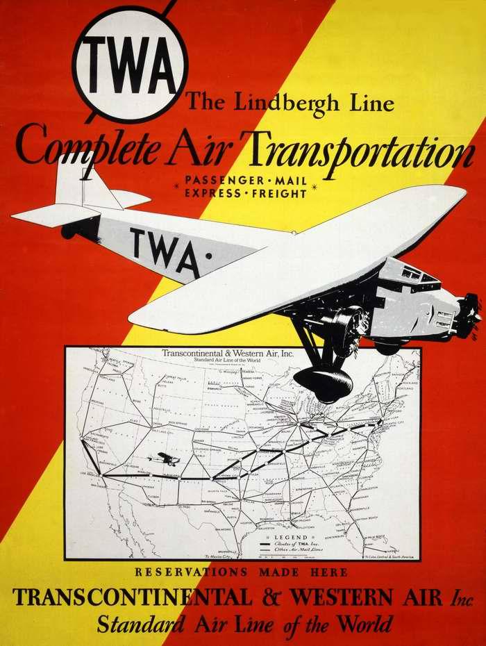 Авиакомпания Transcontinental & Western Air. Универсальные авиаперевозки - пассажиры, экспресс авиапочта, доставка грузов
