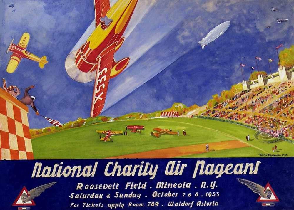Национальное авиа шоу в благотворительных целях в Нью-Йорке 7 и 8 октября 1933 года