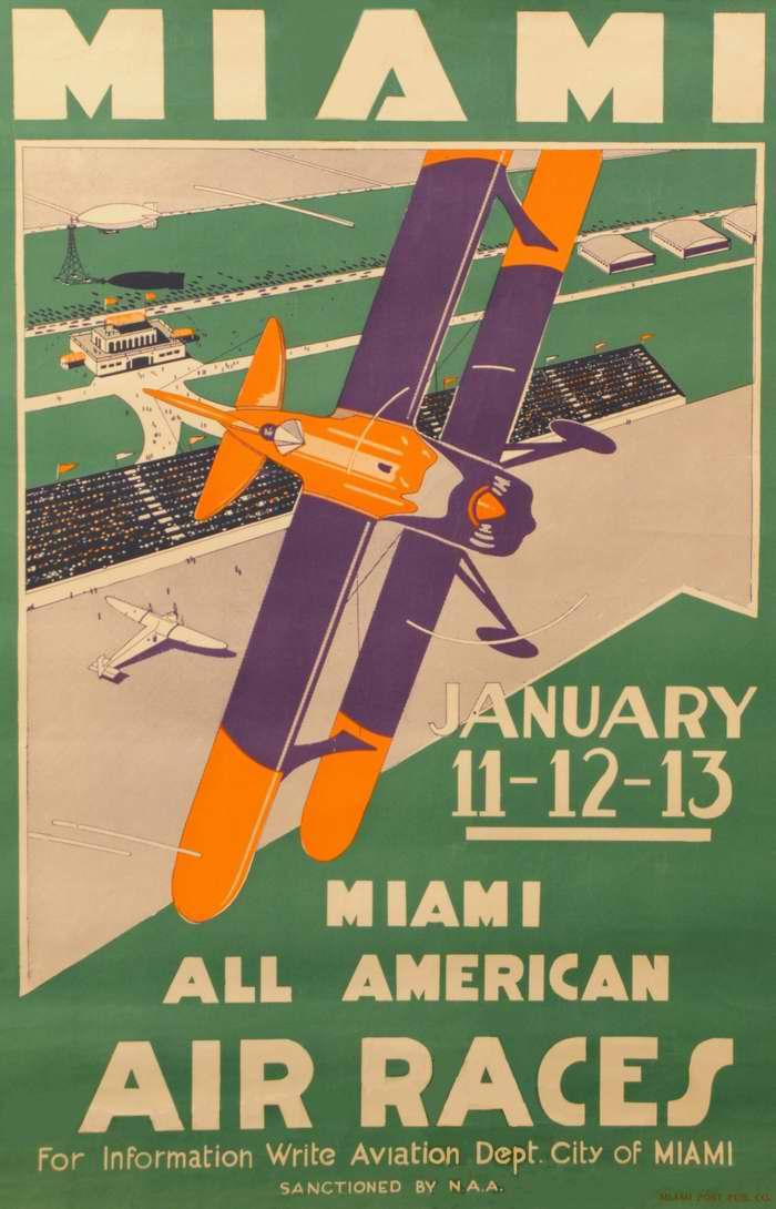 Всеамериканские авиационные соревнования в Майами 11 - 13 января 1933 года