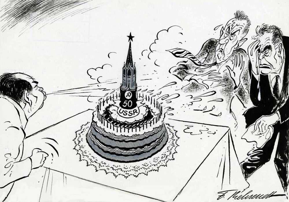 Мао Цзэдун портит Кремлю юбилей - 50 лет со дня октябрьской революции