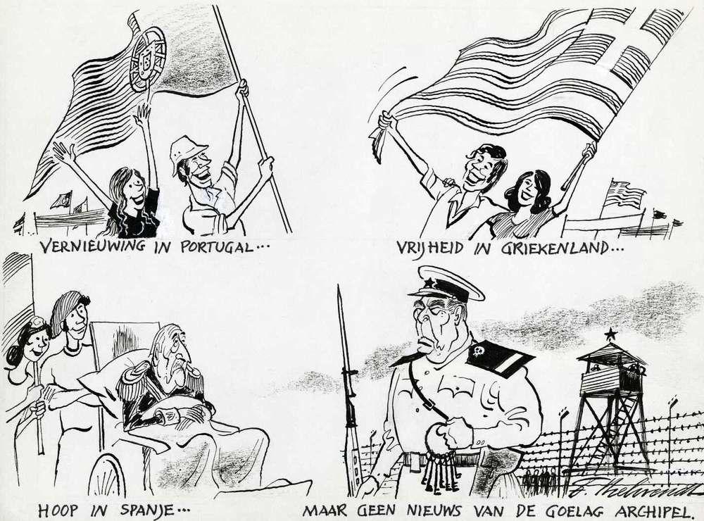 Перемены в Португалии ... Свобода в Греции ... Обнадеживающие вести из Испании ... Но нет хороших новостей из Архипелага ГУЛАГ