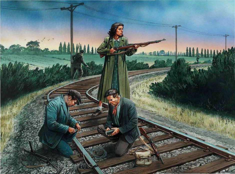 Минирование железнодорожного полотна