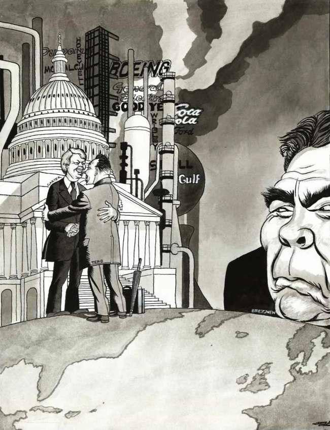 К огромному неудовольствию Брежнева Китай сближается в своих отношениях с Америкой