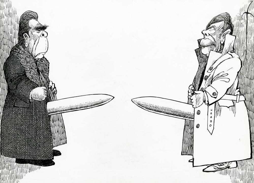 Брежнев и Картер меряются своими ядерными пиписьками