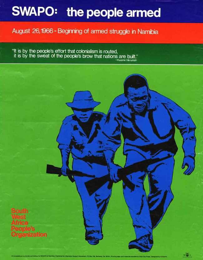СВАПО - это вооруженный народ. 26 августа 1966 года началась вооруженная борьба в Намибии