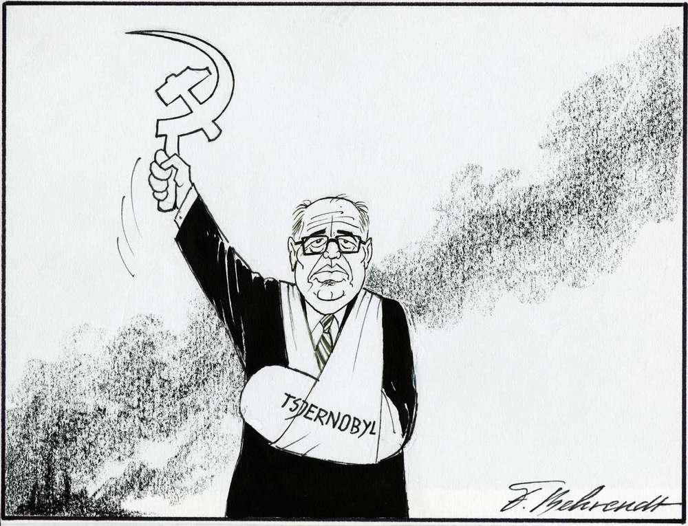 Михаил Горбачев на карикатурах из американских и нидерландских журналов 1985 - 1991 годов