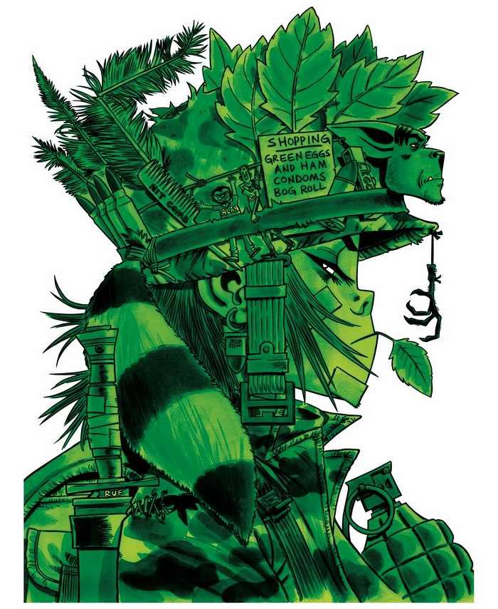 Tank girl - вся в зелени - маскировка