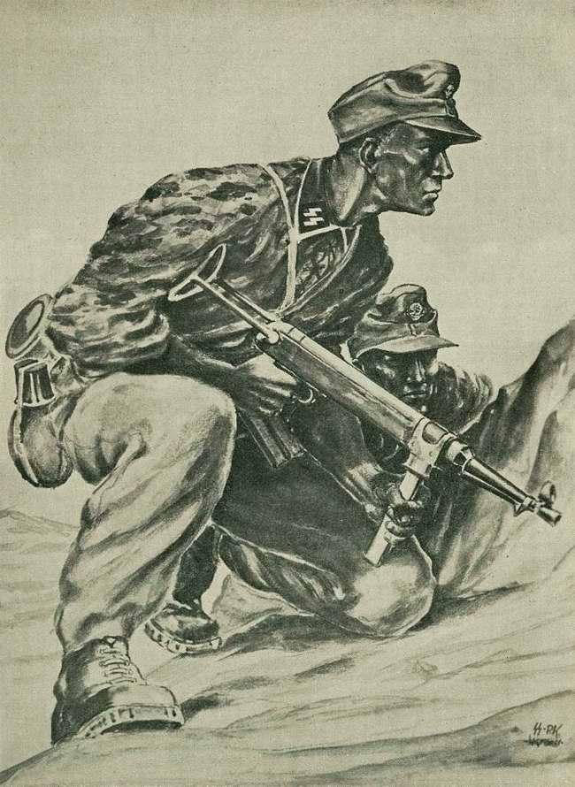 Добровольцы из норвежского подразделения СС - легиона Norwegen