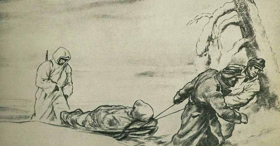 Здоровые солдаты делают для своих раненых товарищей все для того, чтобы осуществить их отправку в глубокий тыл для лечения