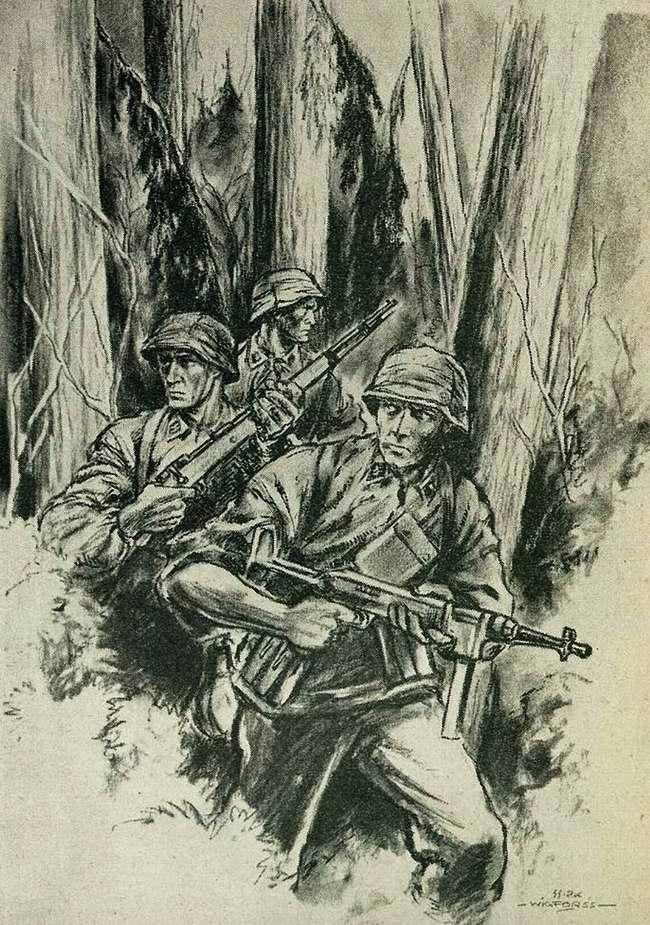 Военнослужащие подразделения СС, отправленные для очистки леса от партизан