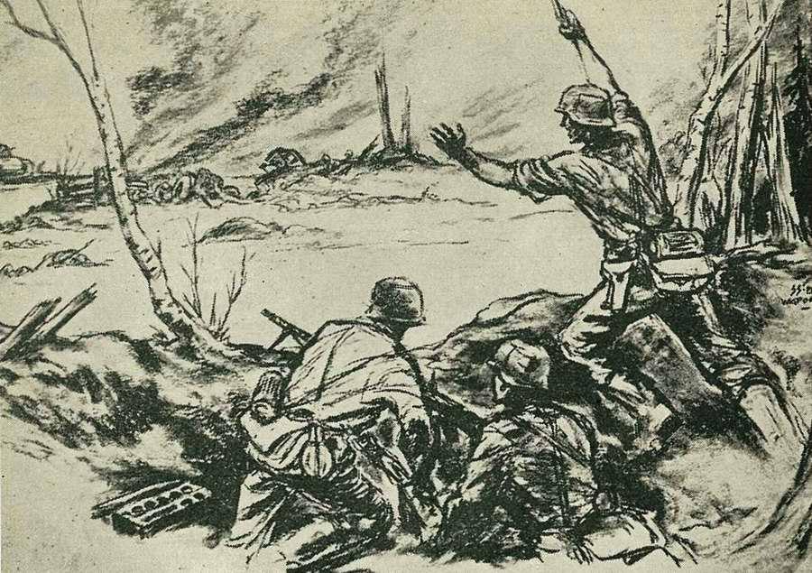 Танковое подразделение совершило полукружный рейд по тылам противника с целью осуществления его окружения