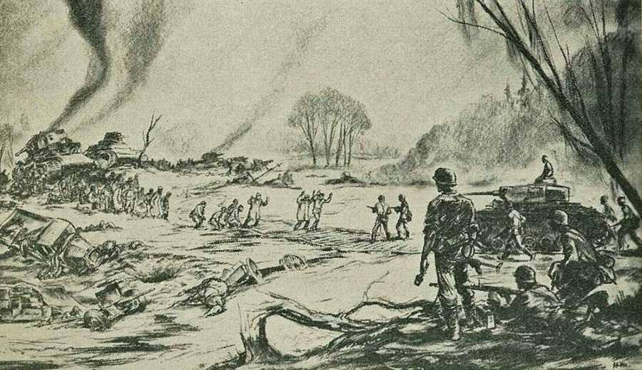 Окружение войск противника окончательно завершено и накал боевых действий заметно ослаб