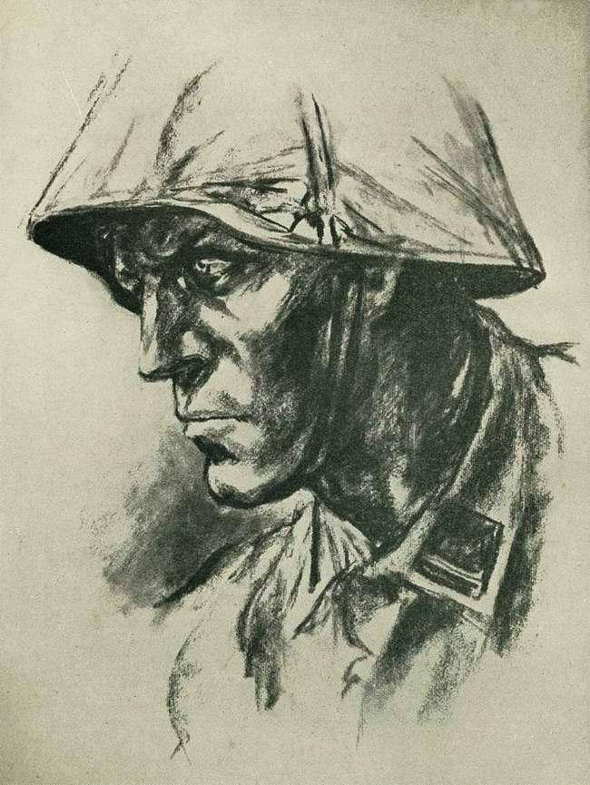 Портрет солдата войск СС