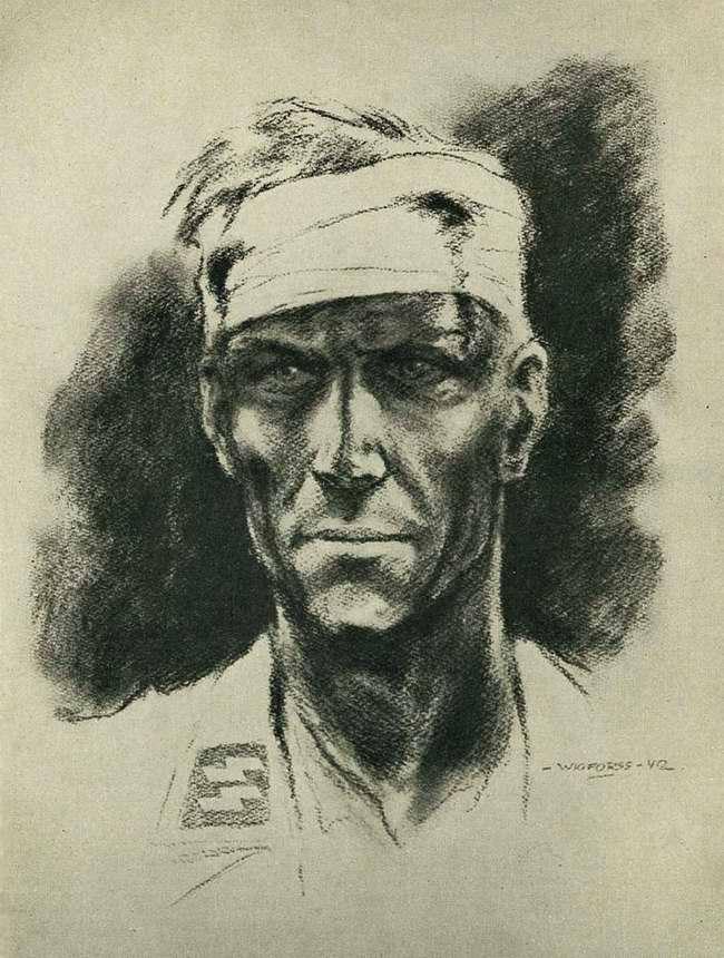 Портрет раненого эсэсовца