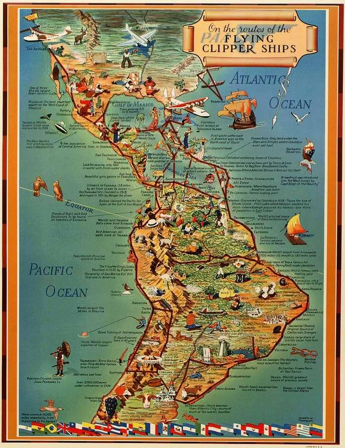 Авиакомпания Pan American Airways - Путешествуйте по Северной и Южной Америке на маршрутных летающих лодках