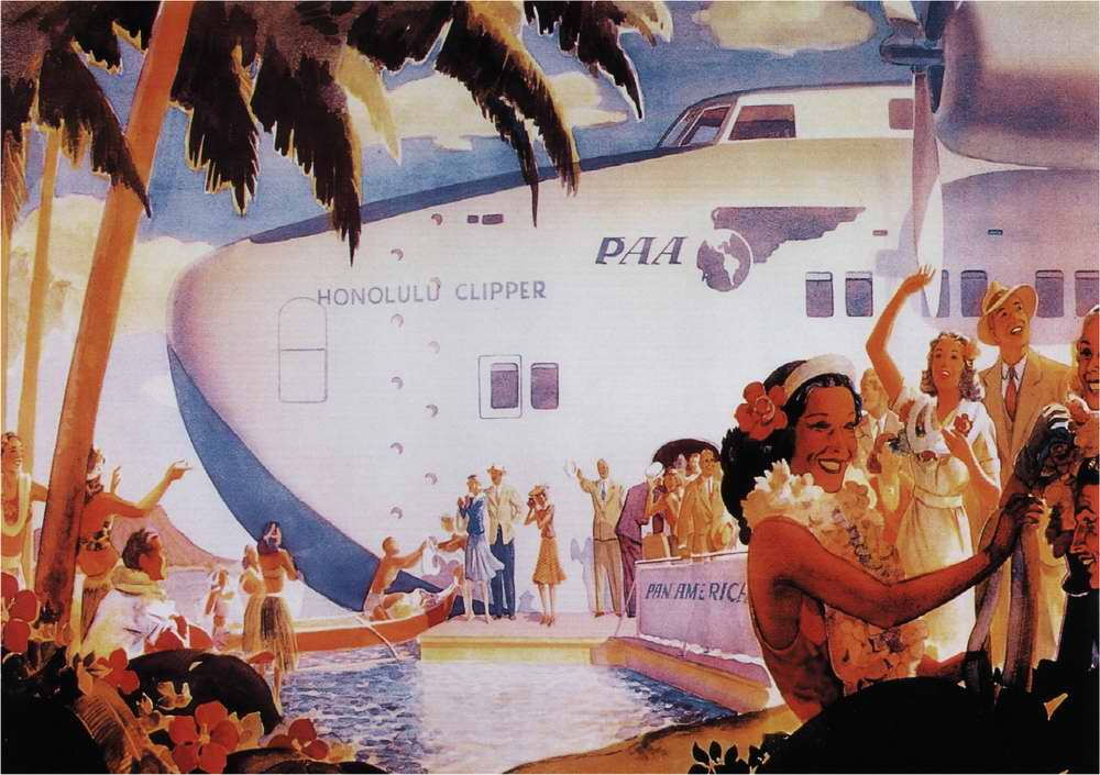 Авиакомпания Pan American Airways - Гигантская летающая лодка Honolulu Clpipper на Гавайских островах