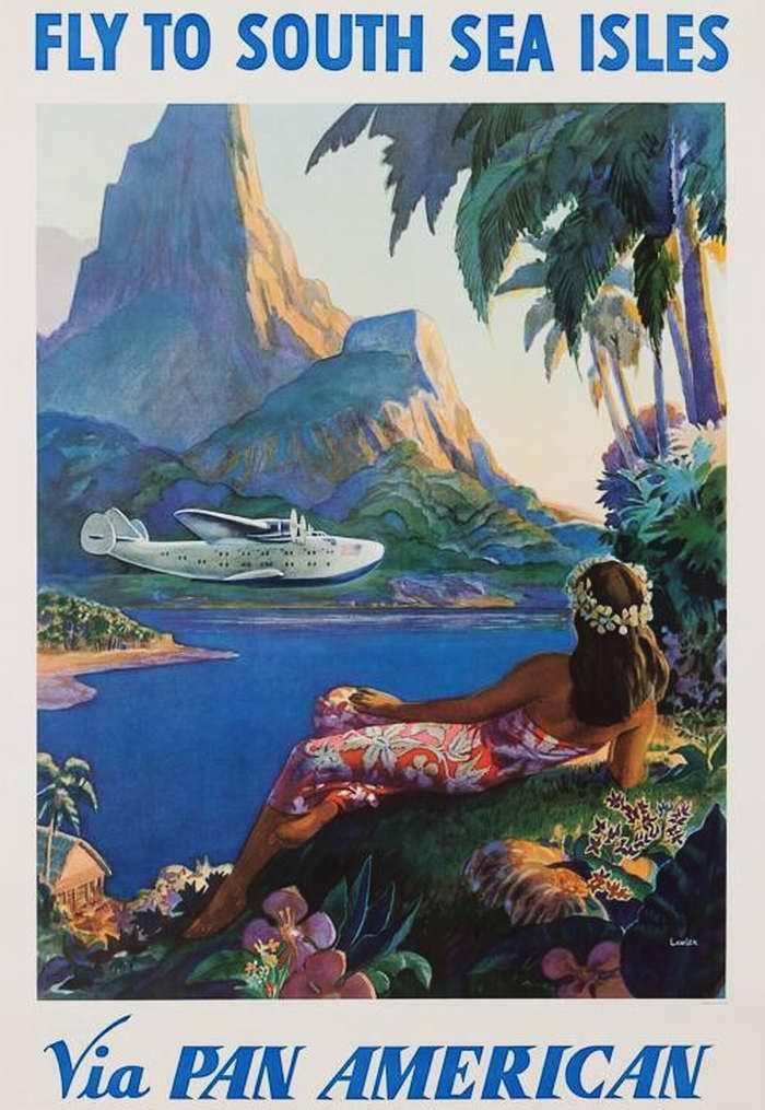Летайте на тихоокеанские тропические острова с авиакомпанией Pan American Airways