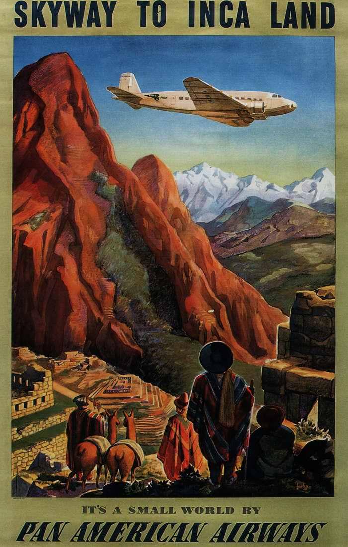 Путешествуйте в страну Инков (Перу) с авиакомпанией Pan American Airways