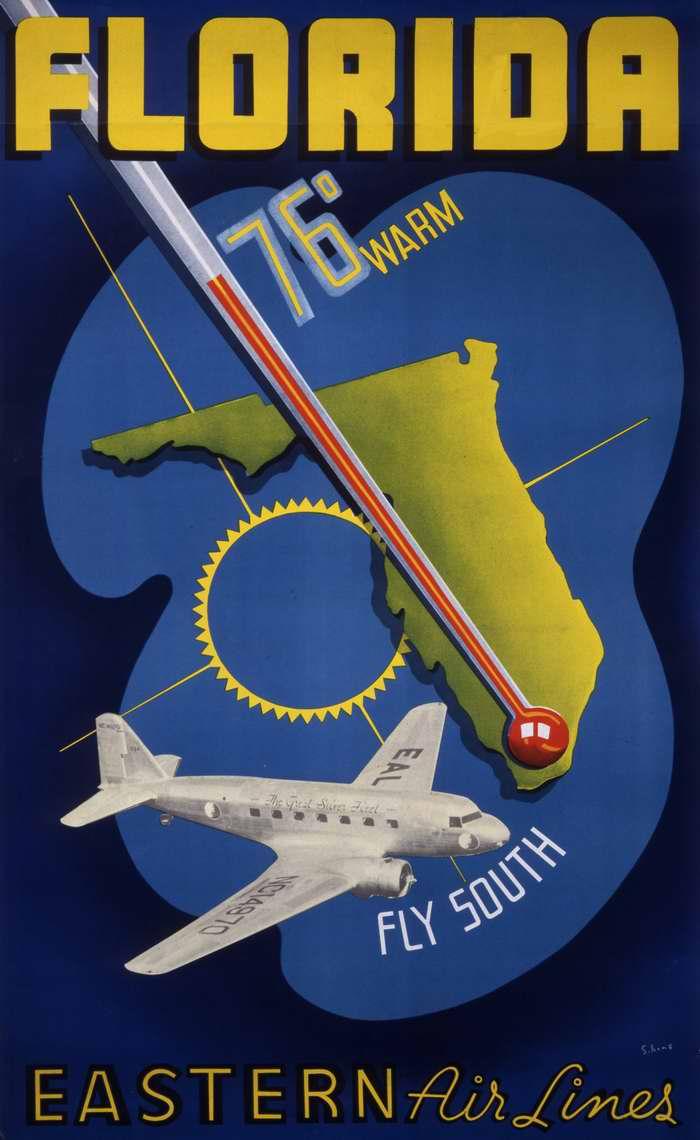 Флорида - полеты на юг с авиакомпанией Eastern Air Lines