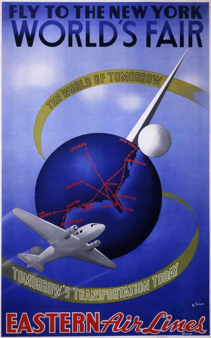 Прилетайте на Всемирную выставку в Нью-Йорке самолетами авиакомпании Eastern Air Lines