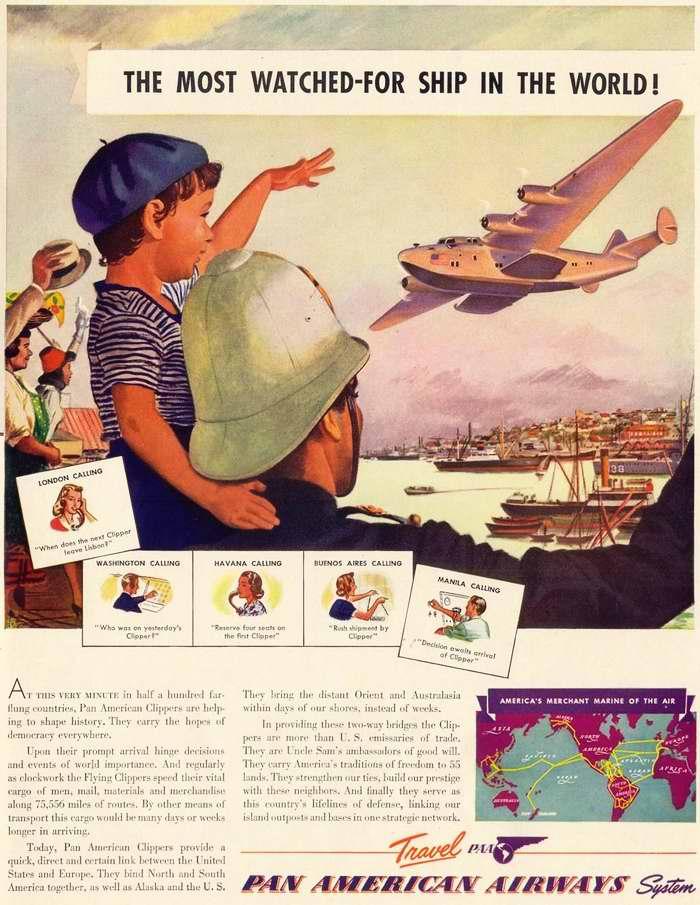 Самые популярные во всем мире гигантские летающие лодки авиакомпании Pan American Airways