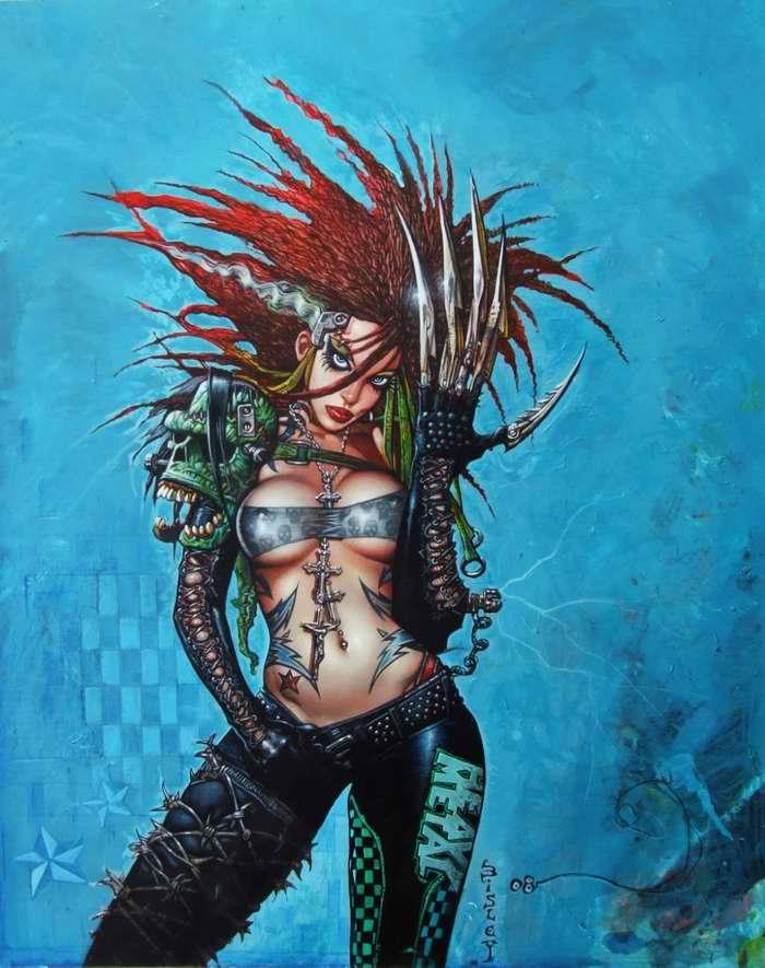 Девушка в стиле Heavy Metal (Simon Bisley)
