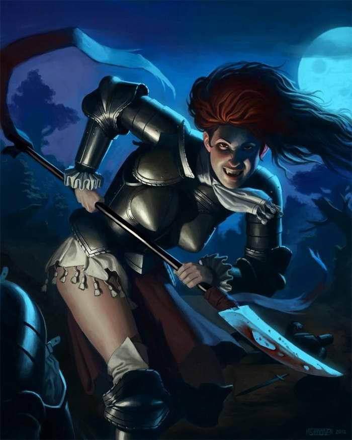 Леди-рыцарь с вампирскими наклонностями (Simon Palmer)