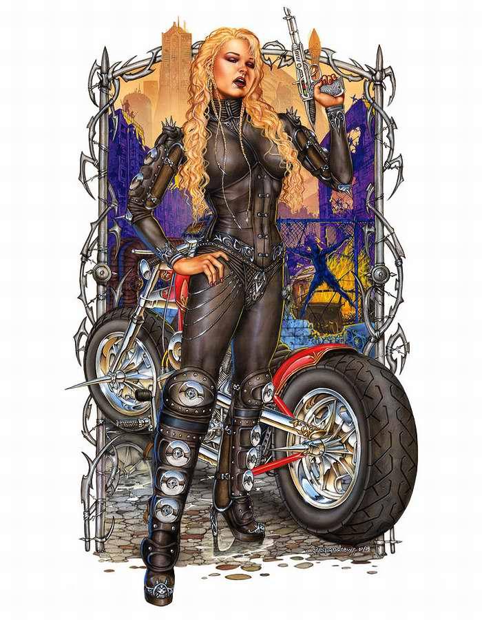Мстительная мотобайкерша (Greg Andrews)