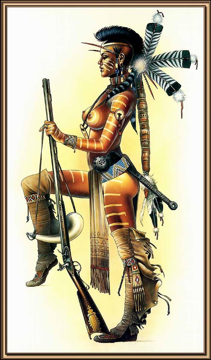 Девушка из племени могикан (Chris Achilleos)