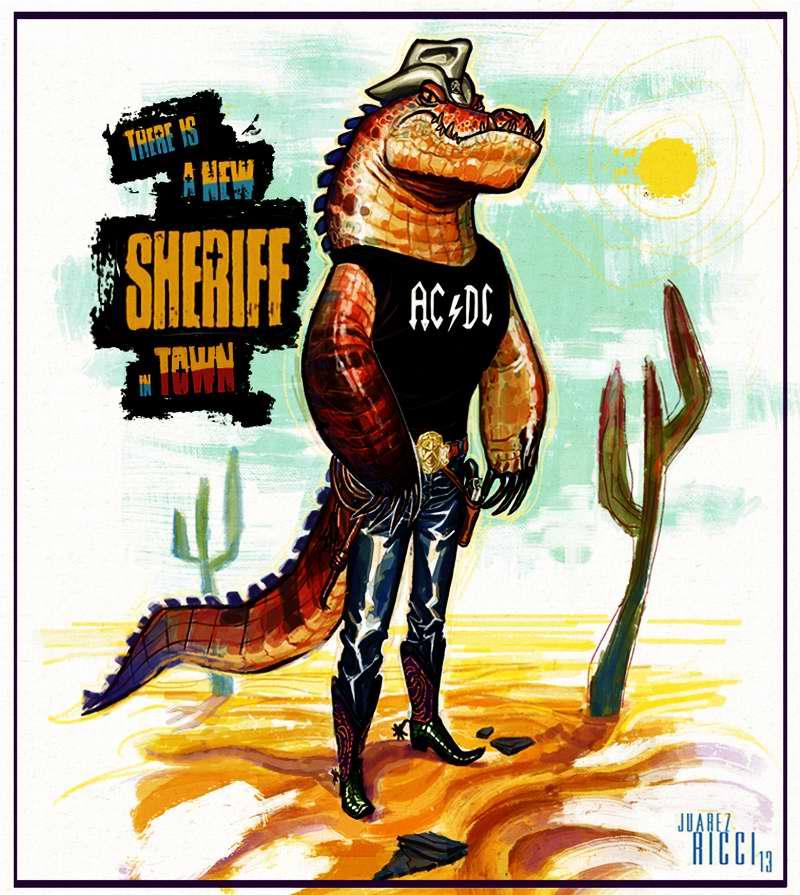 Крокодил - полицейский шериф