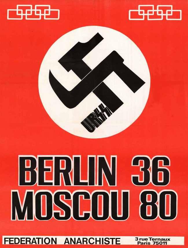 Московская Олимпиада 1980 года - это повторение Берлинской Олимпиады 1936 (Федерация анархистов - Париж)
