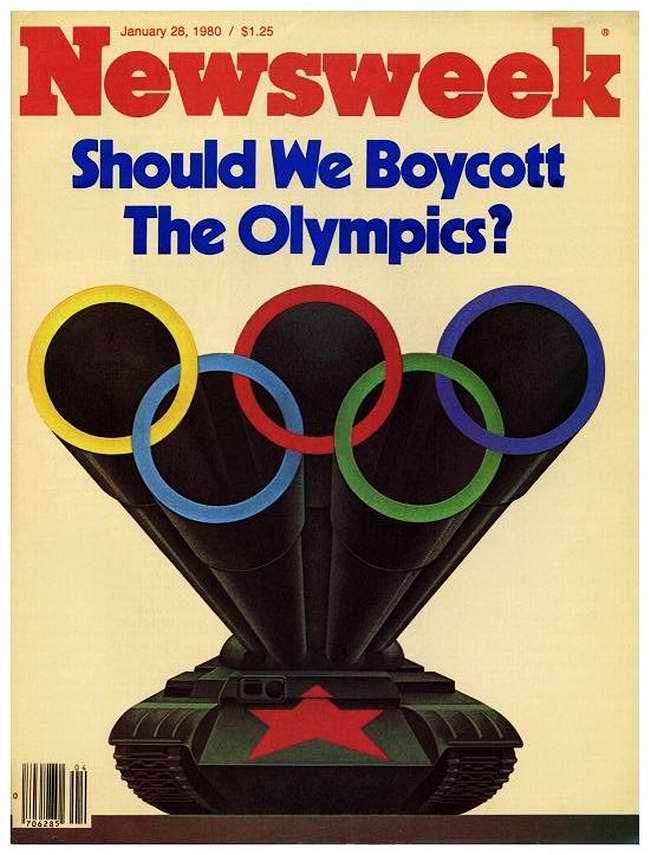 Следует ли нам бойкотировать Московскую Олимпиаду? (обложка журнала Newsweek, январь 1980 года - США)