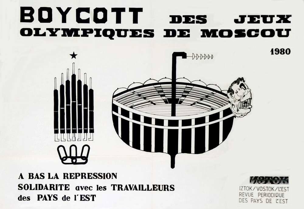 Бойкот Олимпийских Игр в Москве 1980 года. Солидарность с рабочим классом стран советского блока (Париж)
