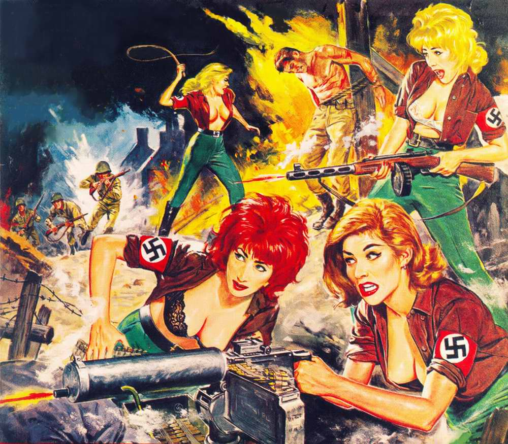 Рисунок с обложки журнала Man's Exploits - 1963 год