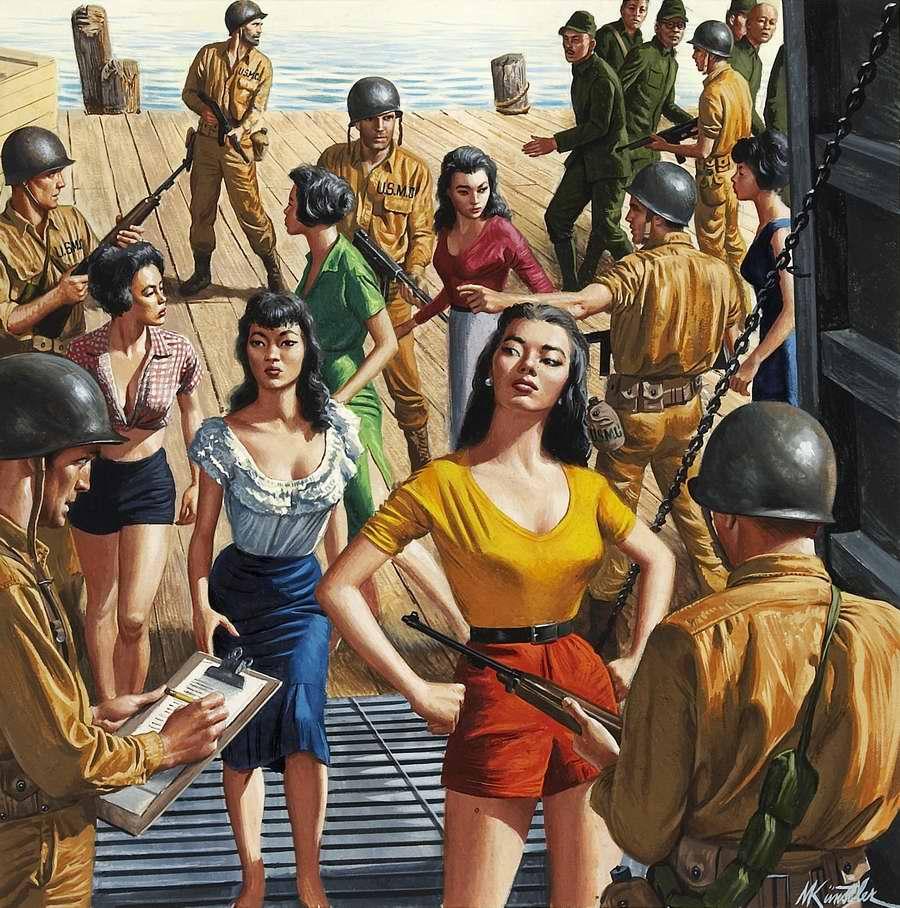 Рисунок художника Морта Кюнстлера (Mort Kunstler) (3)