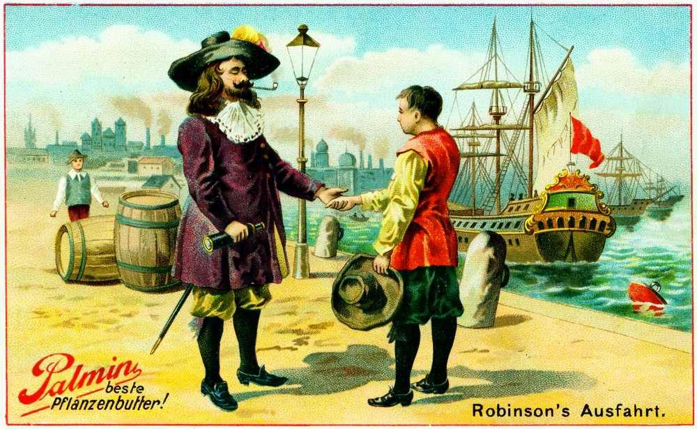 Робинзон Крузо перед отправкой в свое морское путешествие