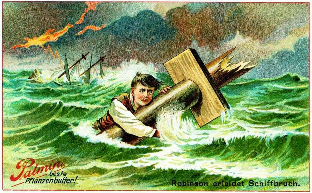 Робинзон Крузо терпит кораблекрушение