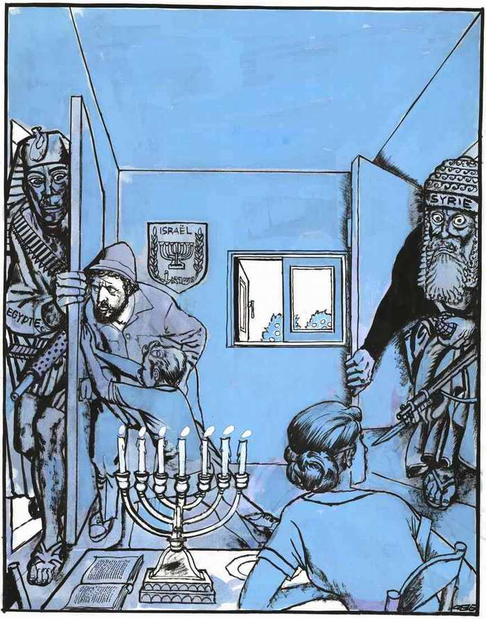 Израильтяне пытаются защитить себя (начало Войны судного дня) - 1973 год