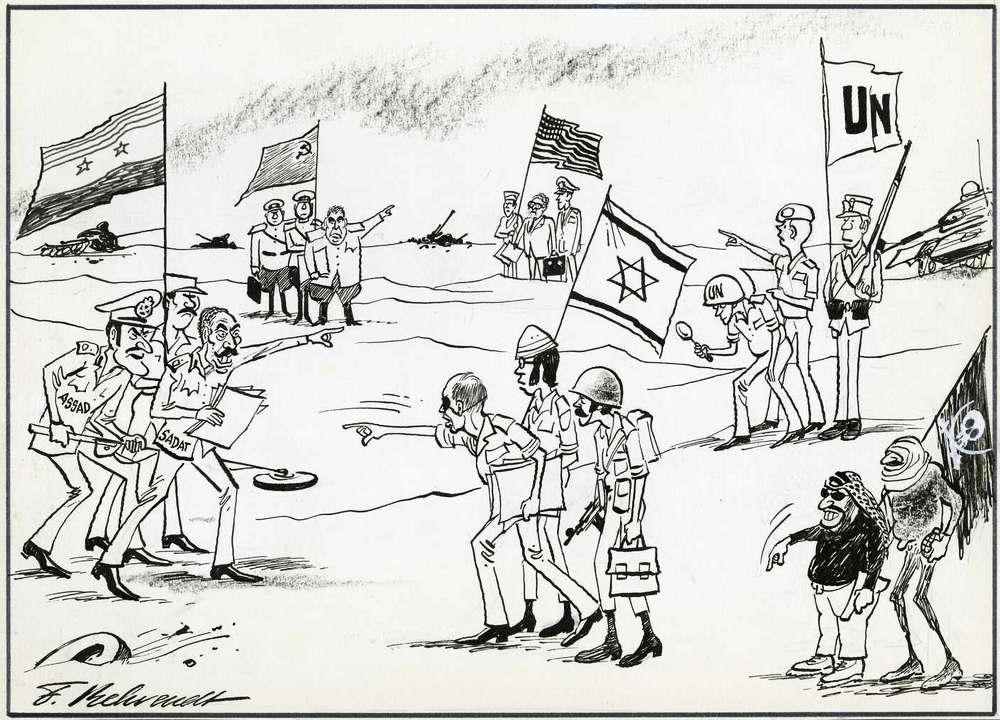 Война судного дня: О диспозиции сил на линии фронта 22 октября 1973 года