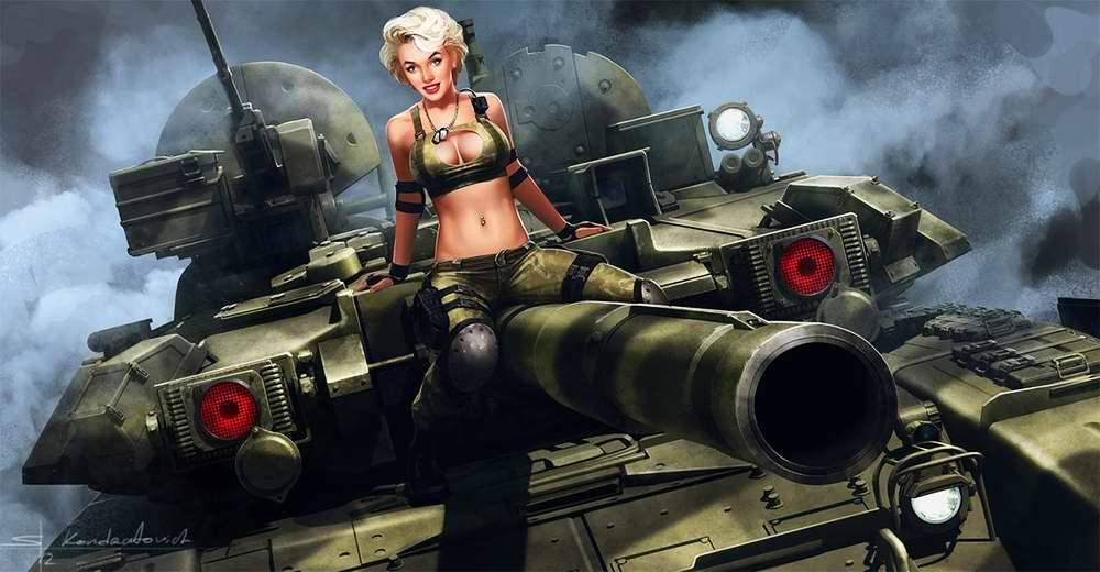 Сексуальные девушки в военной форме спецназа
