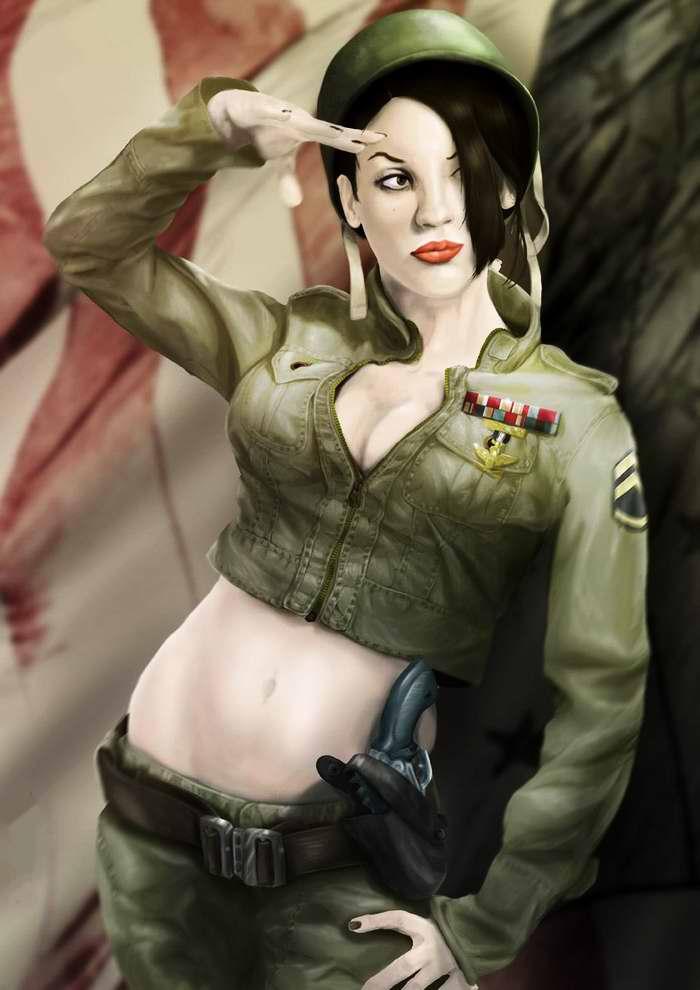 женщина в военной форме ссср эротика